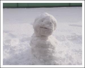 癒しの雪だるま